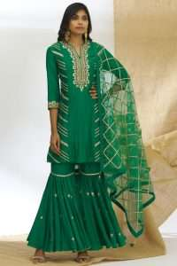 Embroidered Kurta Sharara Set from Ariyana Couture