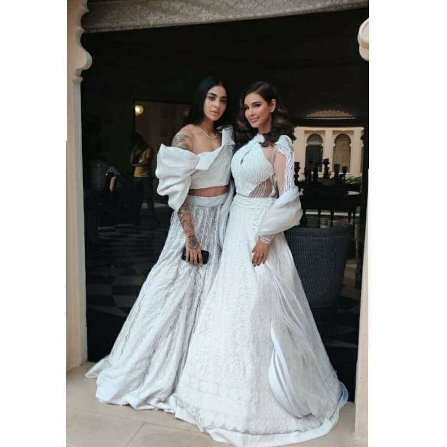 Bani J and Lisa Ray In Gaurav Gupta