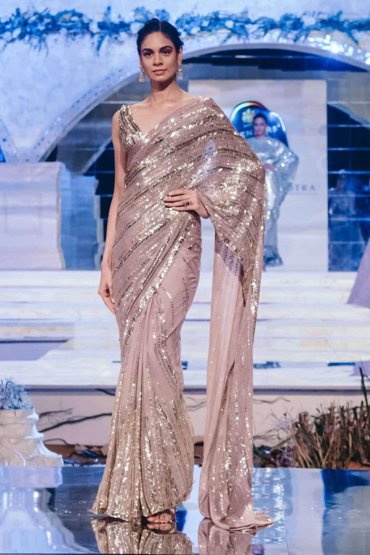 Sequined Saree By Manish Malhotra