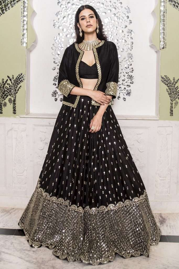 Embellished Jacket Lehenga By Abhinav Mishra