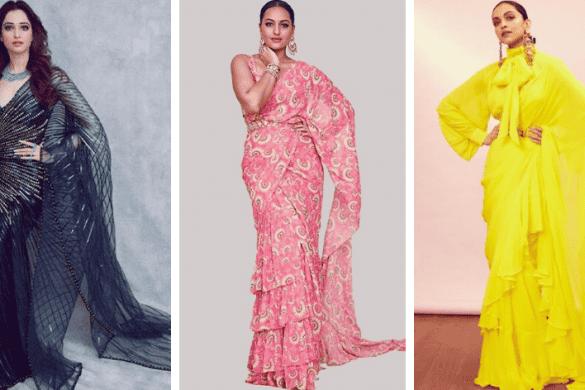 Pre-draped sarees