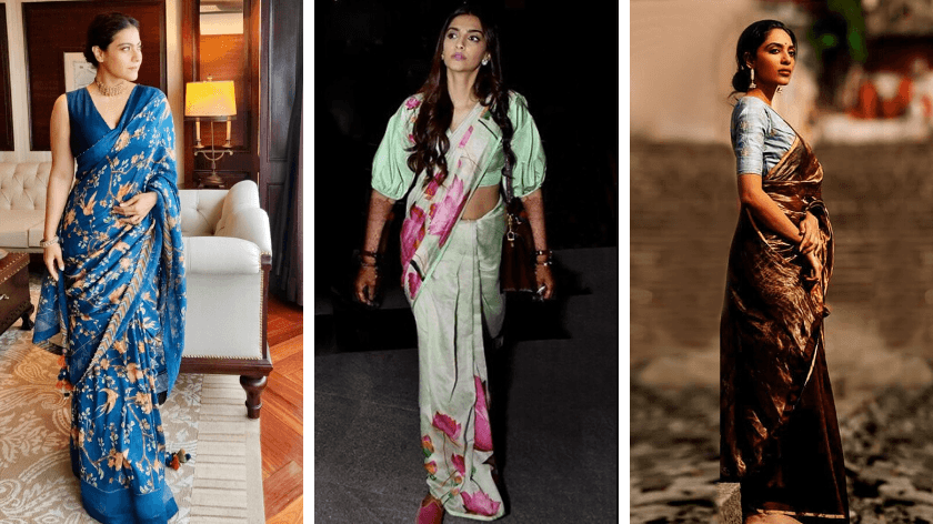 (From L to R) Kajol in Torani, Sonam Kapoor in Masaba, Sobhita Dhulipala in DOT