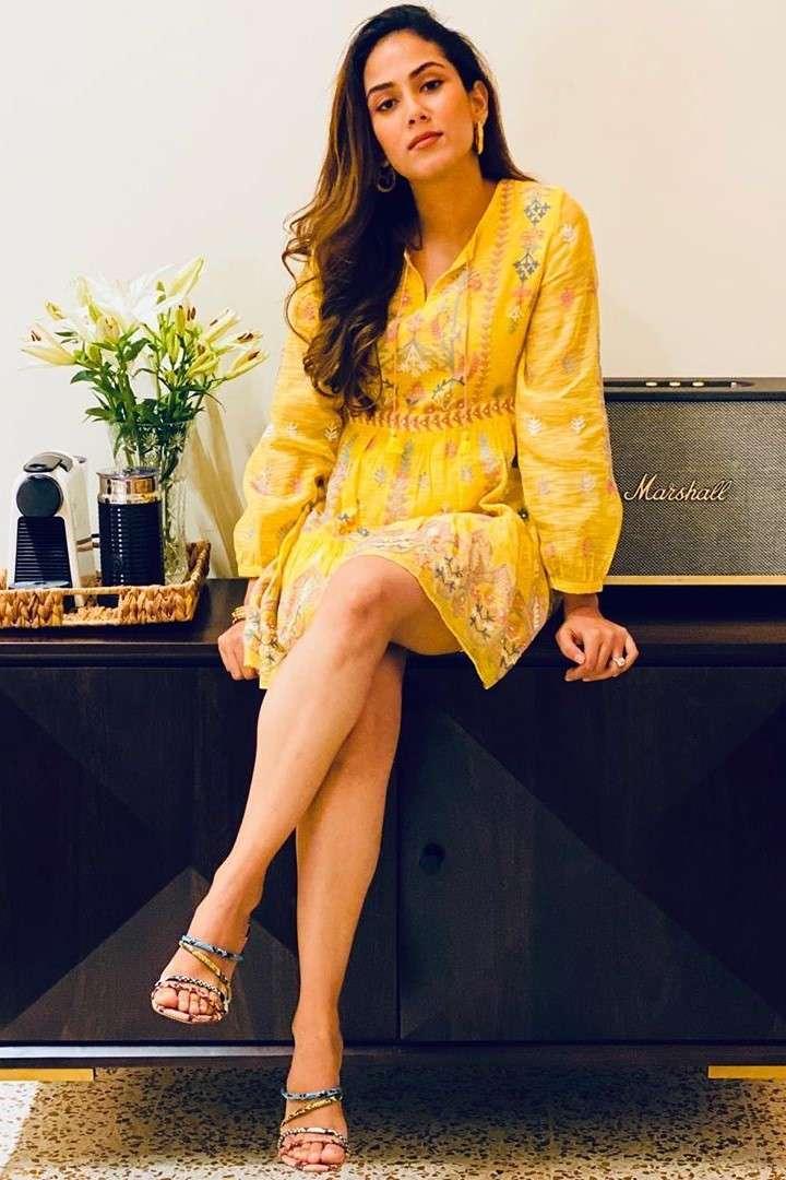 Mira Rajput wearing Anita Dongre