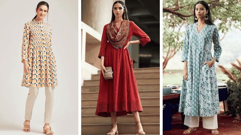 Pankaj & Nidhi, Ritu Kumar, Anita Dongre - Kurtis as Dresses